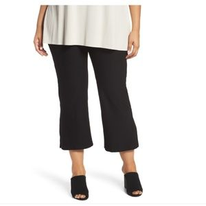 Eileen Fisher Cropped Ankle Bootcut Stretch Pants